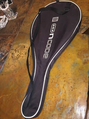 WILSON N CODE NCODE BAG CASE COVER TENNIS RACQUET RACKET BLACK WHITE w/ STRAP