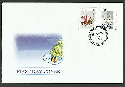 Kosovo, Early Issue Christmas Fdc 2003 Mint
