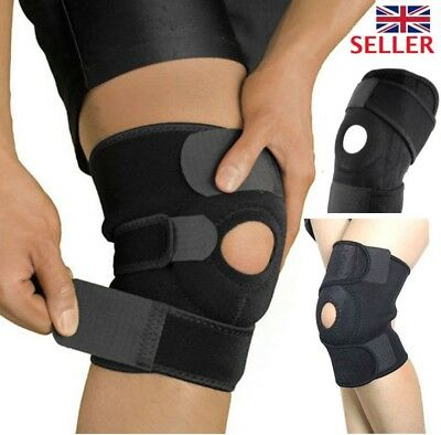 Neoprene Adjustable Patella Black Elastic knee Support, Brace Gym Sport NHS Use