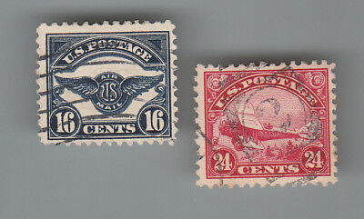 U.S.A. # C5 & C6  Air Mail both Fine used ...2 scans