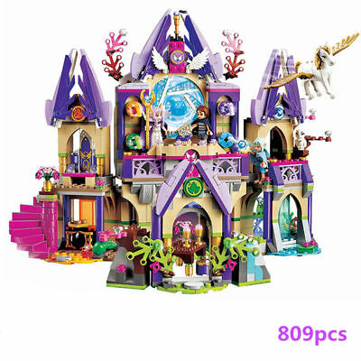 Skyra's Mysterious Sky Castle Building Blocks Model Toys Children Figure Bricks