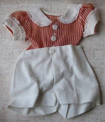 "Vintage - 2 Piece Outfit For Ricky Jr. ~ Lucille Ball Show ~ Fits 16"" Doll ~ Ex"