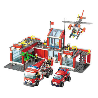 774pcs City Fire Station Building Blocks DIY Educational Bricks Kids Toys Gift