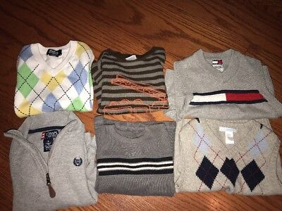 Boys Lot Of Sweaters 3t 4T Janie Jack Tommy Hilfilger Chaps Jumping Beans