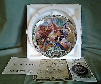 """Wizard Of Oz Musical Plate. """"over The Rainbow"""""""