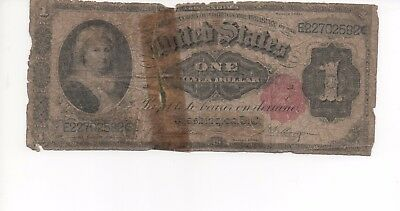 """Fr. 223 1891 $1 One Dollar """"Martha"""" Silver Certificate Currency Note"""