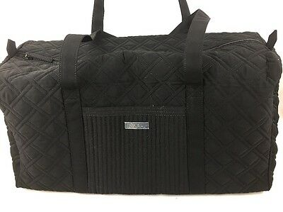 Vera Bradley Large Duffel Bag in Classic Black Microfiber ~NEW With TAGS~perfect