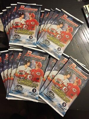 (20) Pack Lot 2017 Bowman Baseball!! New!! Factory Sealed From Mega Box!!! New