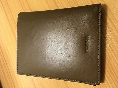 Fossil Mens Passport Wallet Olive Leather