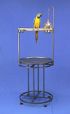 Mauna Loa Lookout Bird Wrought Iron Playstand Parrot Gym Stand W/Toy Hook 5872