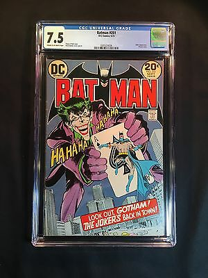 Batman 251 CGC 7.5 1973 - New CGC Case - Joker app