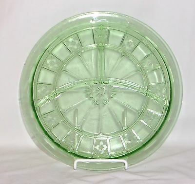 "Jeannette DORIC GREEN *9 1/4"" GRILL PLATE*"