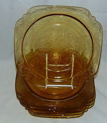 "8 Federal MADRID AMBER *8 7/8"" LUNCHEON PLATES*"