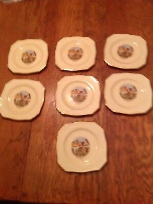 Lot of 7 Santa Claus Land  Santa Claus, IN Small Plates