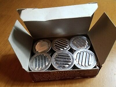 "BOX OF 12 MF Louver ALUMINUM 1"" Air Vent Covers Round with Screens"