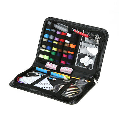 Sewing Box Set Kit Needle Scissor Thread Measure Storage Thimble Travel Tools
