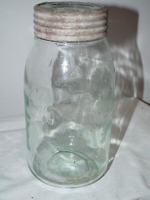 Antique The Imperial 1 Imperial Quart Fruit Canning Jar Sealer