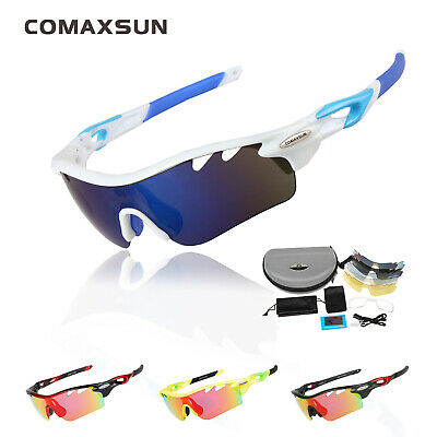 EOC Polarized Cycling Glasses Bike Goggles Fishing Sunglasses UV400 5 Lens 801