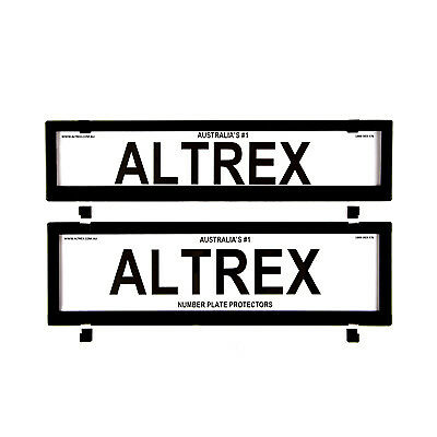 6 figure Number Plate Covers Slimline Black without Lines Altrex 6PCNL