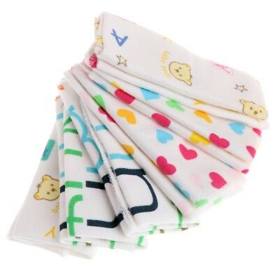 6 X Baby Cartoon Towels Handkerchief Bathing Feeding Face Washcloth Wipe Cloth