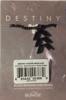 Destiny 2 Hunter Necklace - Black Rhodium Over Brass BUNGIE official