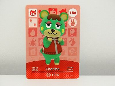 Amiibo Animal Crossing Card Charlise Tabea no. 186 Top