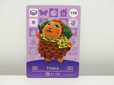 Amiibo Animal Crossing Card Timbra tippsi no. 158 Top