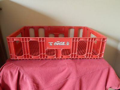 Red Plastic Coca-Cola Soda Bottle Huskylite Advertising Tray Carrier