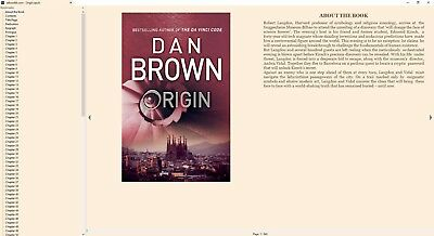 Origin by Dan Brown 2017 Digital Book epub mobi PDF + Audio Book