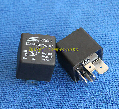 2pcs ORIGINAL SLDH-12VDC-1C NO:80A NC:60A 14VDC SONGLE Relay NEW