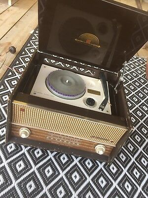 Vintage Record Player, In Working Order