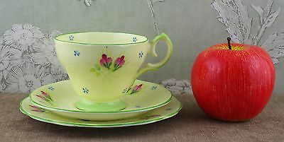 Beautiful Queen Anne England bone china trio.