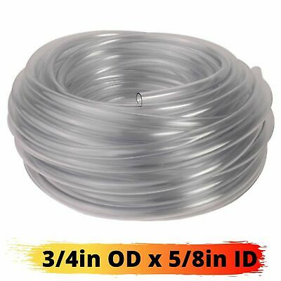 Vinyl Tubing 100ft HVAC Clear Drain Hose 5/8in ID Water Tube AC Condensate Pump