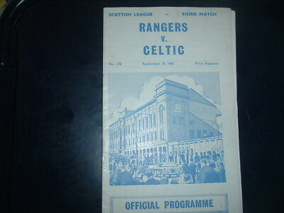 Rangers v Celtic Sept 1965