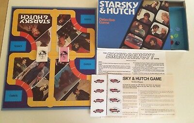 Vintage Starsky and Hutch Detective Board Game Complete 1977 Milton Bradley Exc