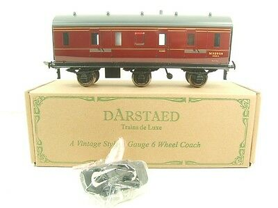 Darstaed O Gauge BR Maroon Lined Six Wheel Stove Coach R/N M32958 Boxed