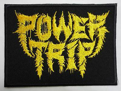 POWER TRIP embroidred yellow patch Iron Reagan Cursed Converge Cro mags