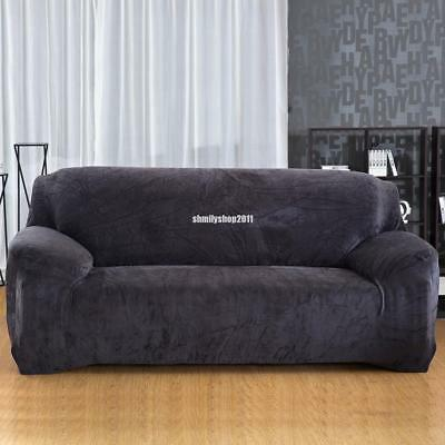 Gray Stretch Fit Sofa Cover Lounge Couch Removable Cover Washable 3 seater 230cm