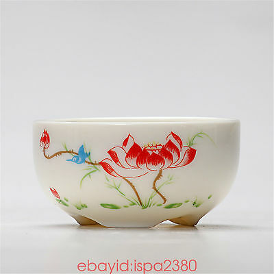 Chinese lotus Porcelain Kungfu Tea Cup 60cc Delicate small teacups