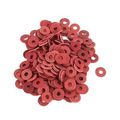 200 Pcs 3x8x0.7mm Insulated Fiber Insulating Washers Spacers Red Z5E3