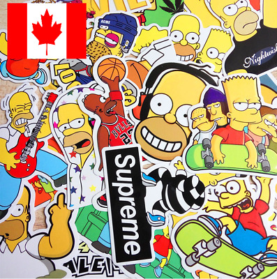 """12 PACK Thug Life The Bart Homer Simpsons and Flanders 3"""" Stickers Waterproof"""