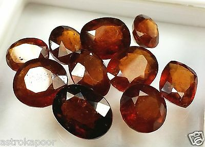 73.55 CT 10 Pcs Ceylon Hessonite Natural Awesome Quality Wholesale Lot Gems W756