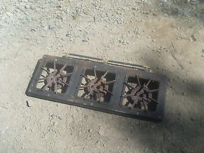 3 burner lpg gas stove sporting goods hiking camping cooking equipment cast iron