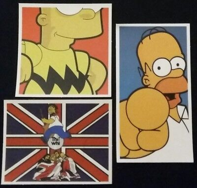 """Simpsons The Who music Stickers Waterproof 3"""" inch 3 Pack Bart Homer"""
