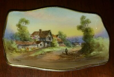 Beautiful Royal Worcester Small Dish - 1938 - Handpainted by Charles Creese