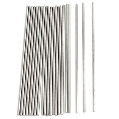 20pcs 50mm x 1mm Silver Tone Stainless Steel Transmission Round Rod E4S1
