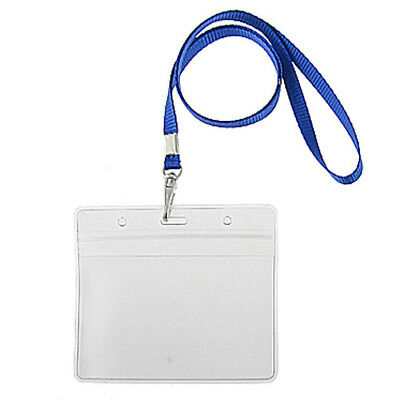 2 pieces water resistant lanyard with badge holder card holder card wallet L2P9