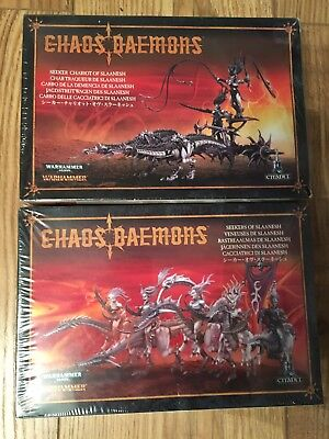 Warhammer Age Of Sigmar / 40k Slaanesh Seeker Chariot And Seekers