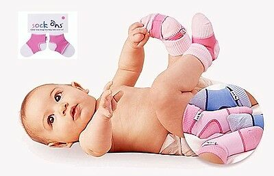 Sock Ons 6-12 Months | Baby Sock Covers | Stop Babies Socks From Falling Off