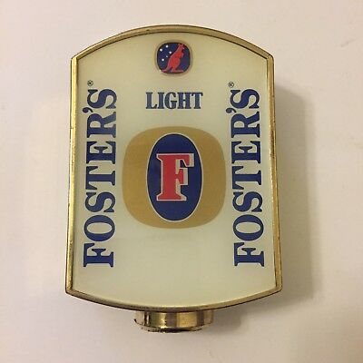 Fosters Light Beer Tap Badge, Decal, Top Vintage Collectable